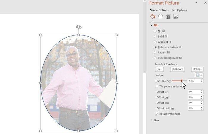 Προσαρμογή διαφάνειας Powerpoint Windows