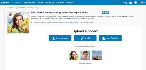 Бабочка онлайн