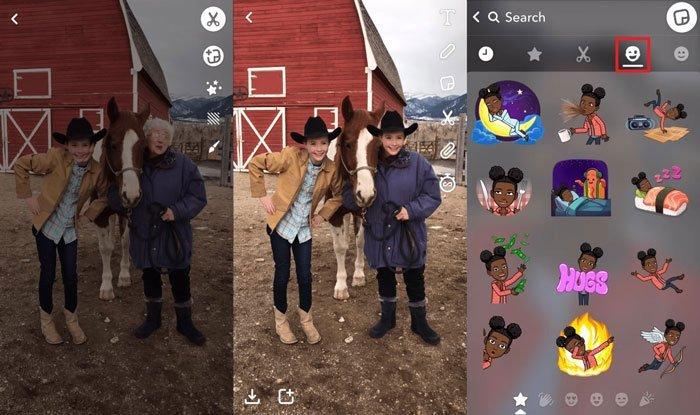 Snapchat Fotoğraf Çıkartmaları Yapın