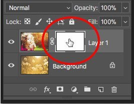 Selecting Layer Mask Photoshop