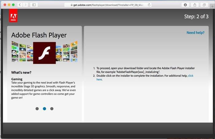 的Adobe Flash Player