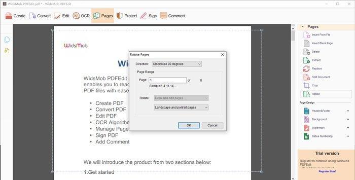 PDF'yi döndür