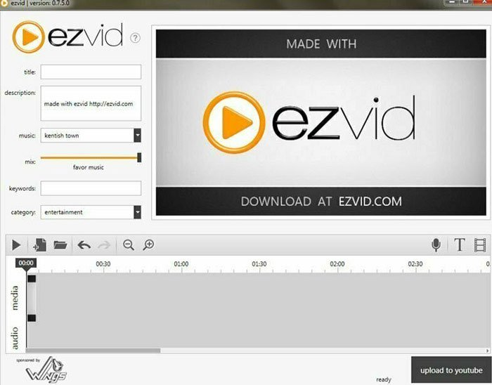 Δημιουργός βίντεο Ezvid