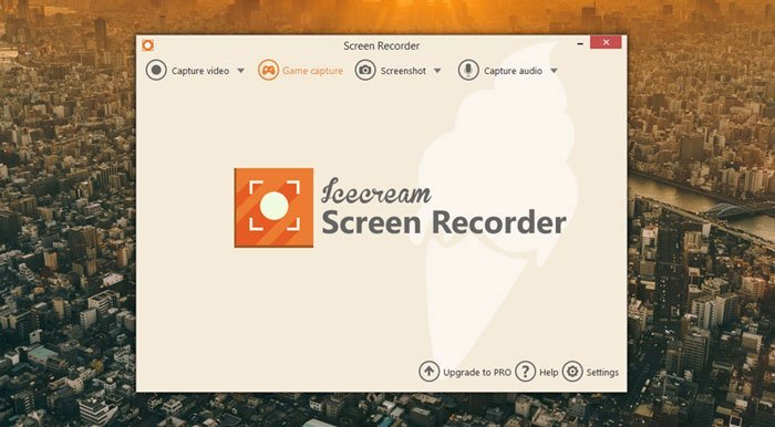 واجهة Icecream Screen Recorder