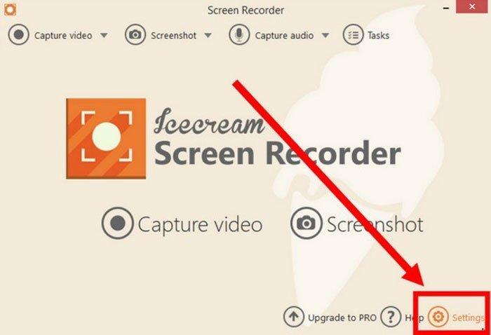 إطلاق Icecream Screen Recorder