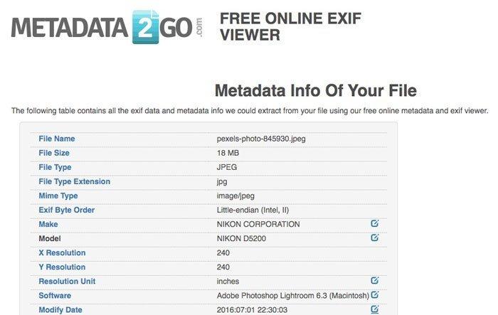Metadata2go