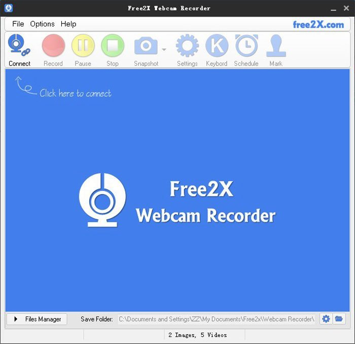 Free2X Registratore per webcam