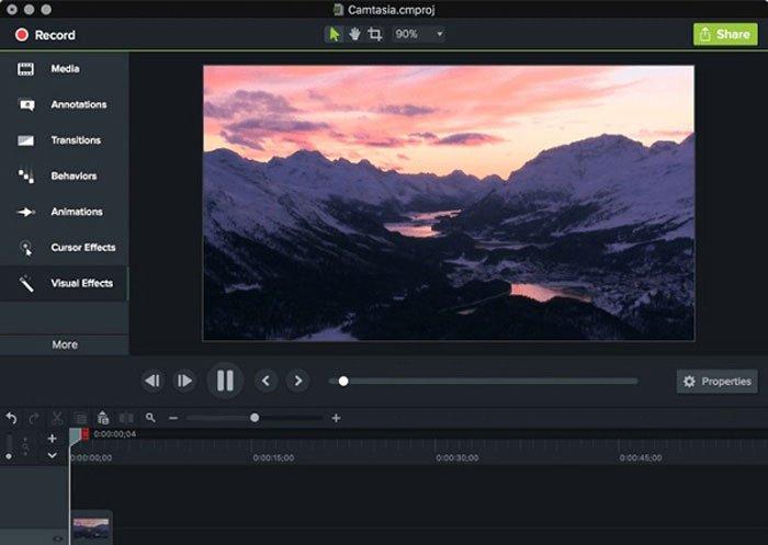 أصول تحرير الفيديو Camtasia
