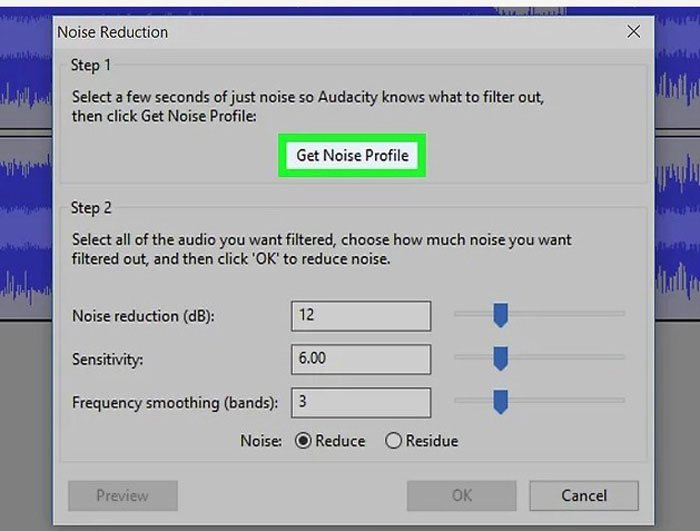 Get Noise Function Audacity