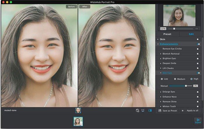 Face Slim Feature Πορτρέτο Pro