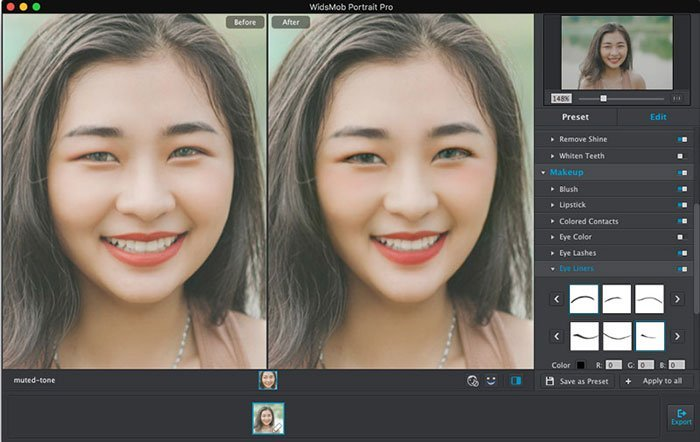 Makeup Fat Face Portrait Pro