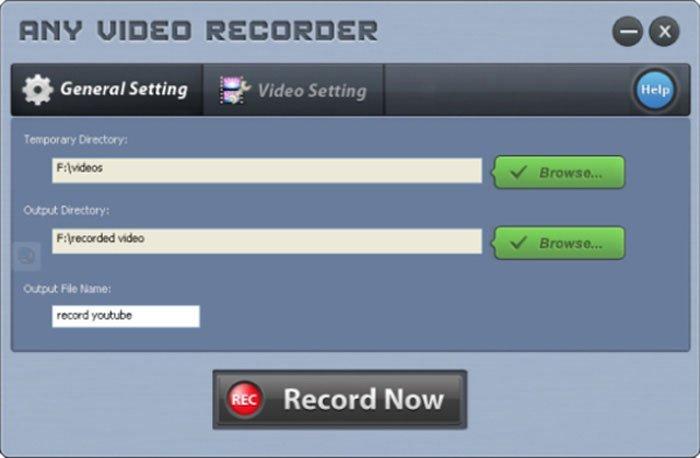 Cualquier grabadora de video