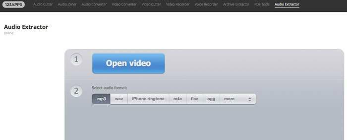 Extrahera ljud från MP4 Online