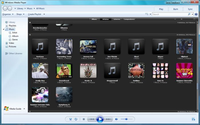 Windows Media Player TS