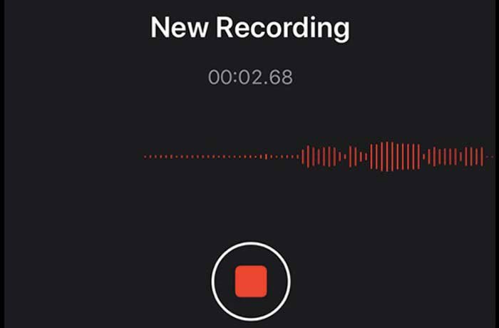 Spela in röst på iPhone