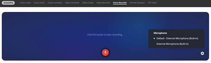オンラインで音声を録音する