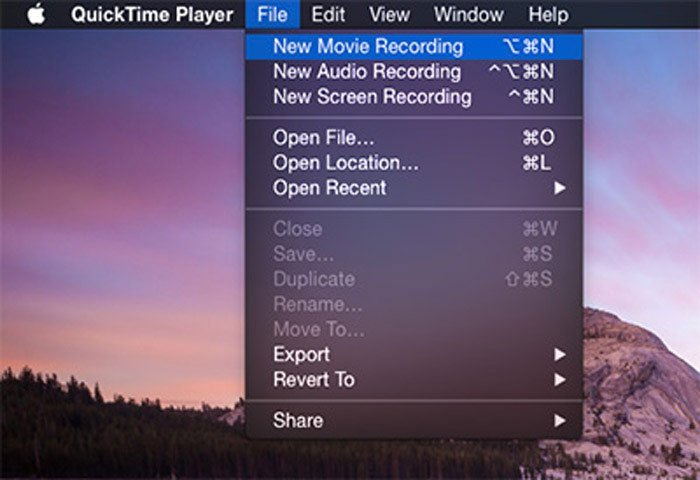 QuickTime iPhone Recording