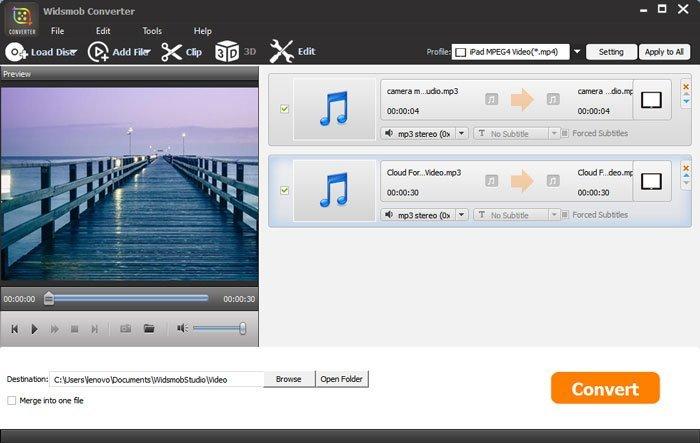 Konvertieren Sie Audio WidsMob Converter