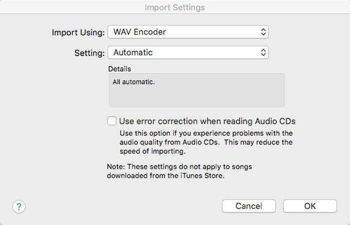 iTunes Converteer WAV