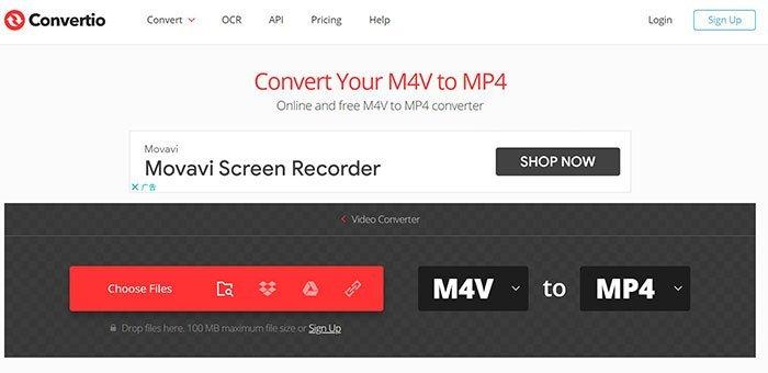 Преобразование M4V в MP4