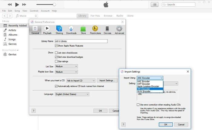 iTunes конвертировать M4P