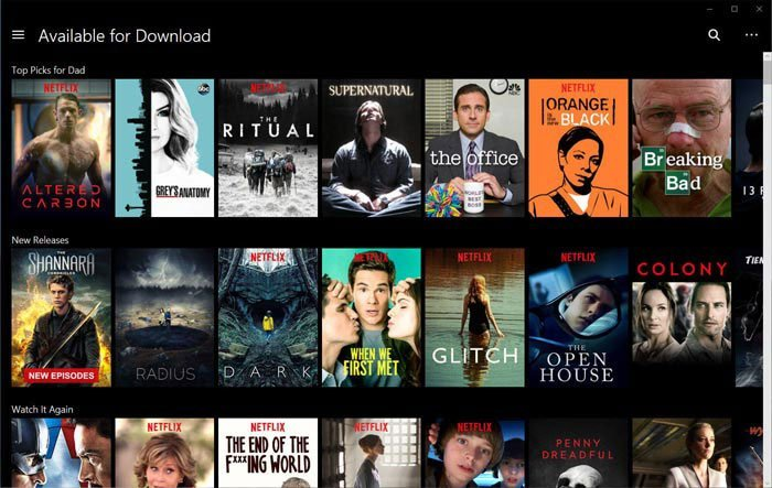 Download da Netflix disponível para download