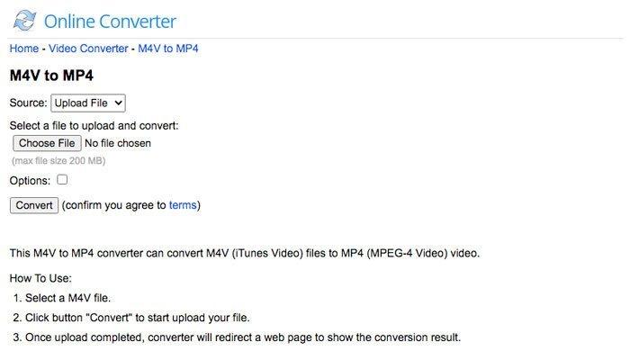 OnlineConverter M4V в MP4