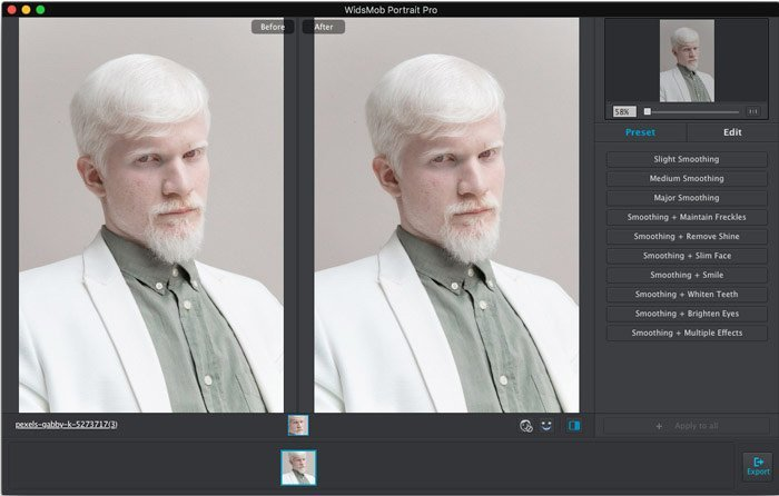 Add Passport Portrait to WidsMob Portrait Pro
