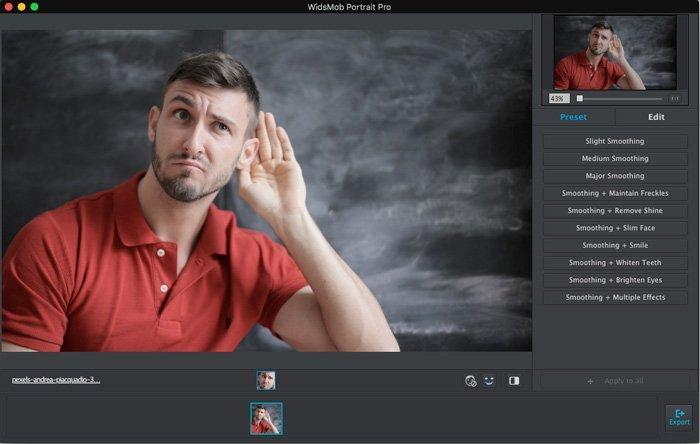 Fügen Sie mit Portrait Pro aufgenommene Fotos auf dem Mac hinzu