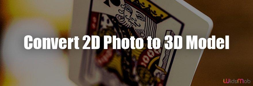 Converter foto 2D em modelo 3D