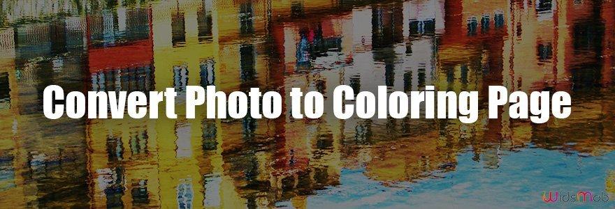 Converter foto em página para colorir