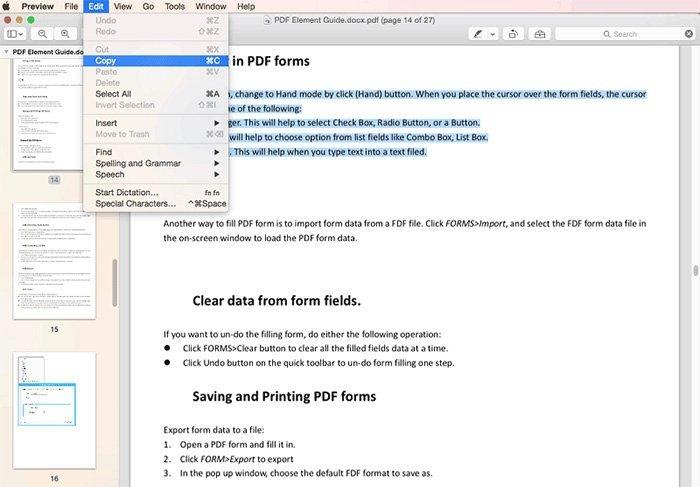 Kopier PDF-fil med forhåndsvisning på Mac