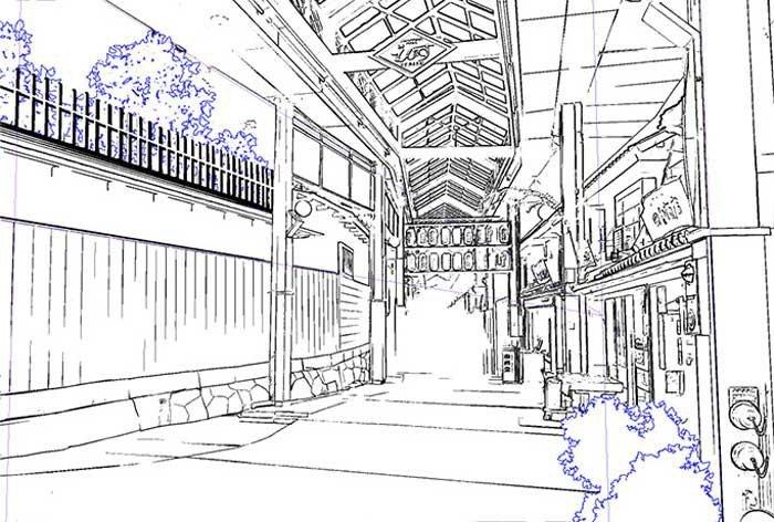 Decore a página para colorir no Clip Studio Paint