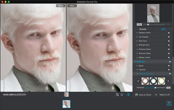 Polish Passport Portrait with WidsMob Portrait Pro