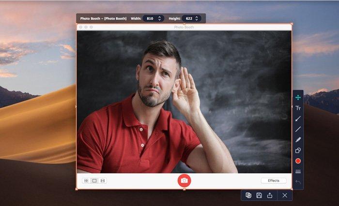 Nehmen Sie mit Movavi Screen Recorder ein Foto auf einem Mac-Screenshot auf