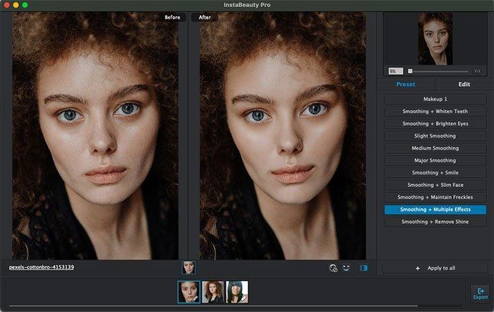 Retuszuj zdjęcie portretowe za pomocą wstępnie ustawionego WidsMob Portrait Pro
