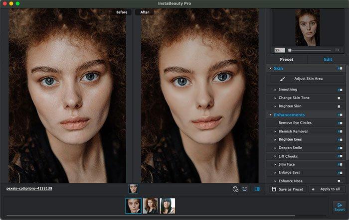 Retuszuj zdjęcie portretowe za pomocą WidsMob Portrait Pro