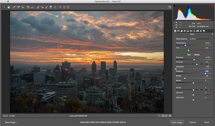 Gratis Photoshop-plugins - Camera Raw
