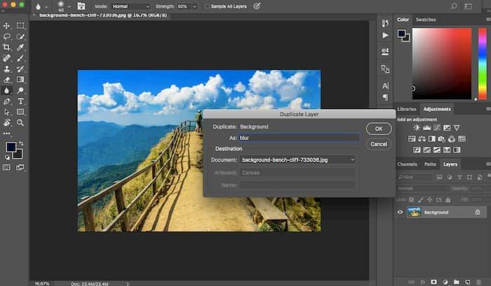 Duplicate Layer Photoshop
