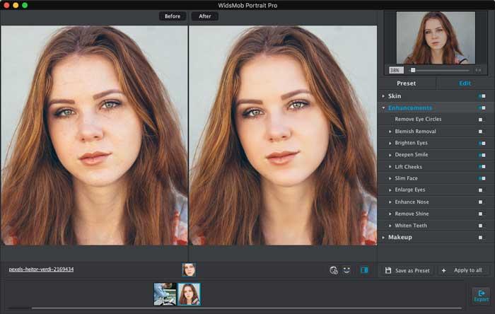 Melhorar o Portrait Tinder