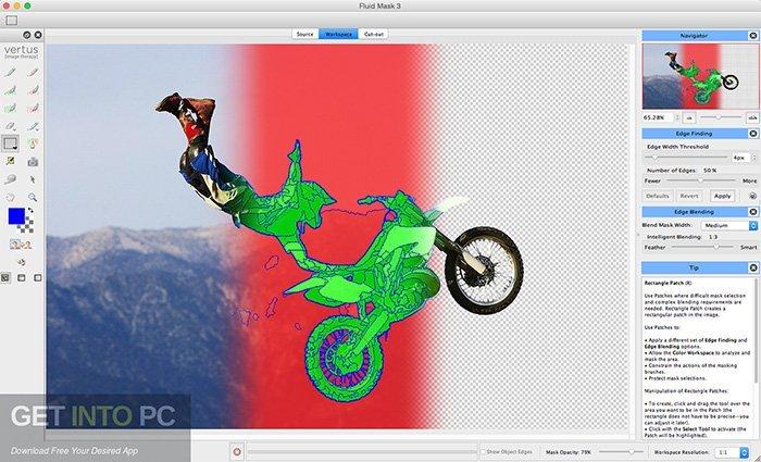Gratis Photoshop-plugins - Fluid Mask 3