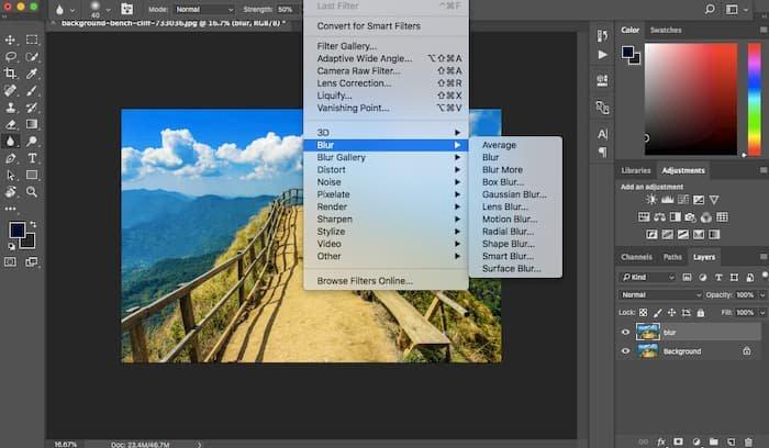 Gaussian Blur Photoshop
