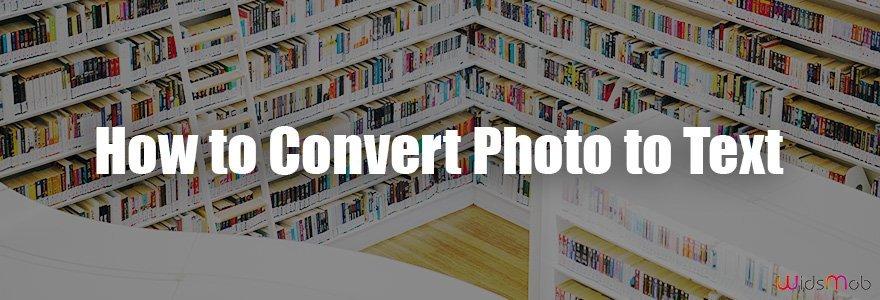 Como converter foto em texto