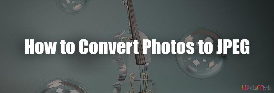 Como converter fotos para JPEG