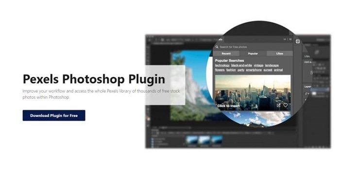 Gratis Photoshop-plugins - Pexels Photoshop-plugin