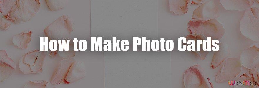 Como fazer cartões fotográficos
