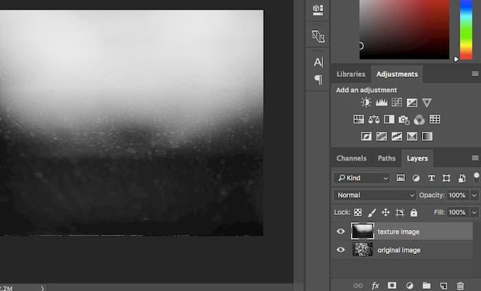 Importera texturbilder till Photoshop