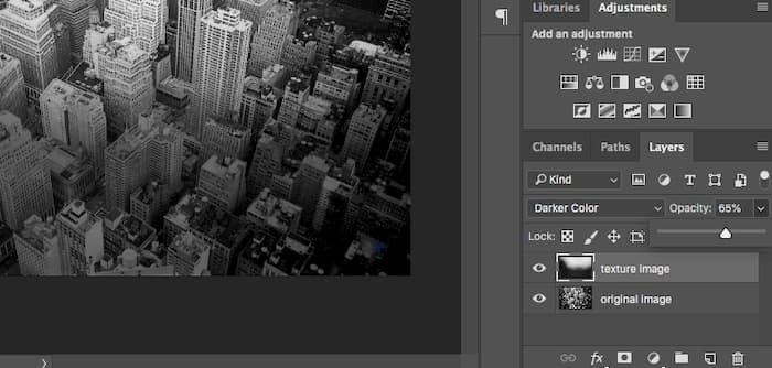 Minska opacitet i Photoshop
