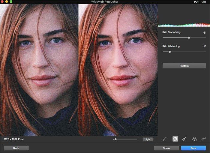 Retuszuj portrety za pomocą retuszu