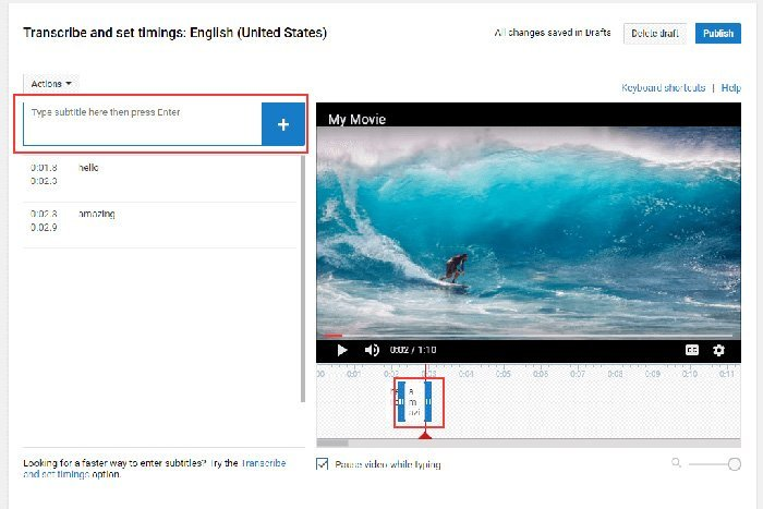 Nhập phụ đề cho video YouTube